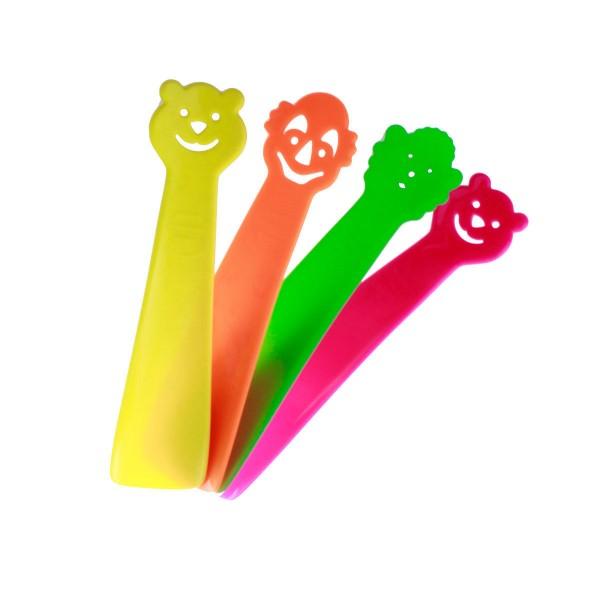 4er Pack Schuhanzieher Schuhlöffel ideal für Kinder 18cm 4 veschiedene Farben