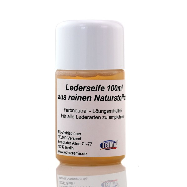 Lederseife 100ml Flasche Lederreinigung inklusive Reinigungsschwamm