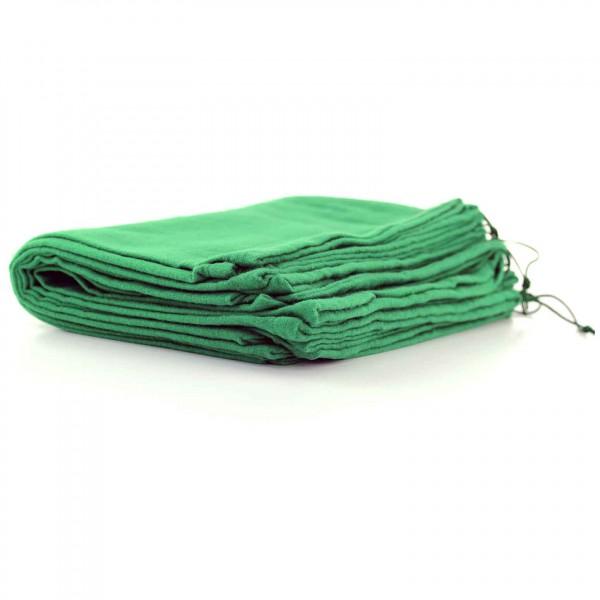 10 Stück Schuhbeutel aus Baumwolle mit Zugband 37x27cm GRÜN