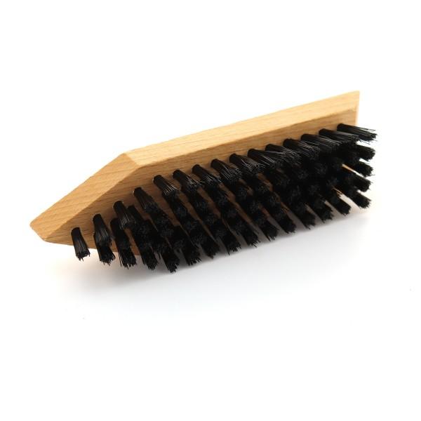 Schmutzbürste (Holz) ca. 16,3cm lackiert synth. Borsten schwarz