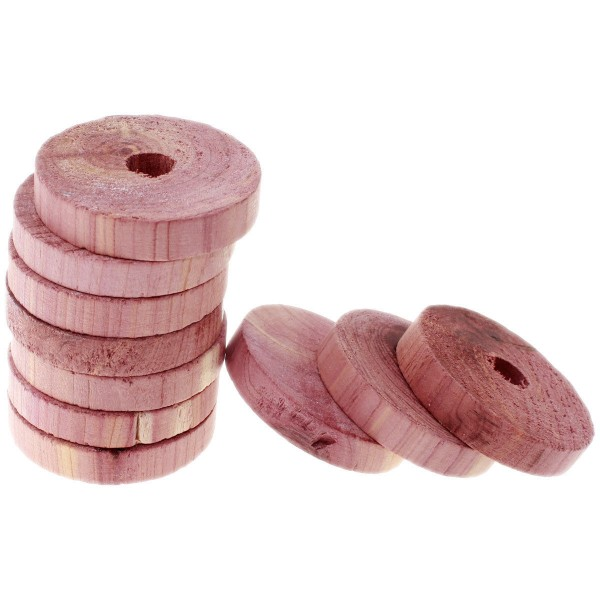 50 Stück Rot-Ceder-Kleiderbügelscheiben, Natürlicher Mottenschutz ohne Chemie cedar!