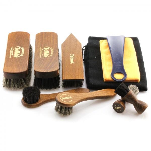 Schuhbürstenset für Glattleder Premium 02 mit Schuhlöffel