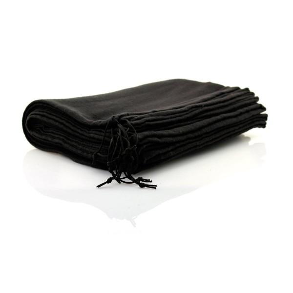10 Stück TelMo® Schuhbeutel aus Baumwolle mit Zugband 40x30cm SCHWARZ